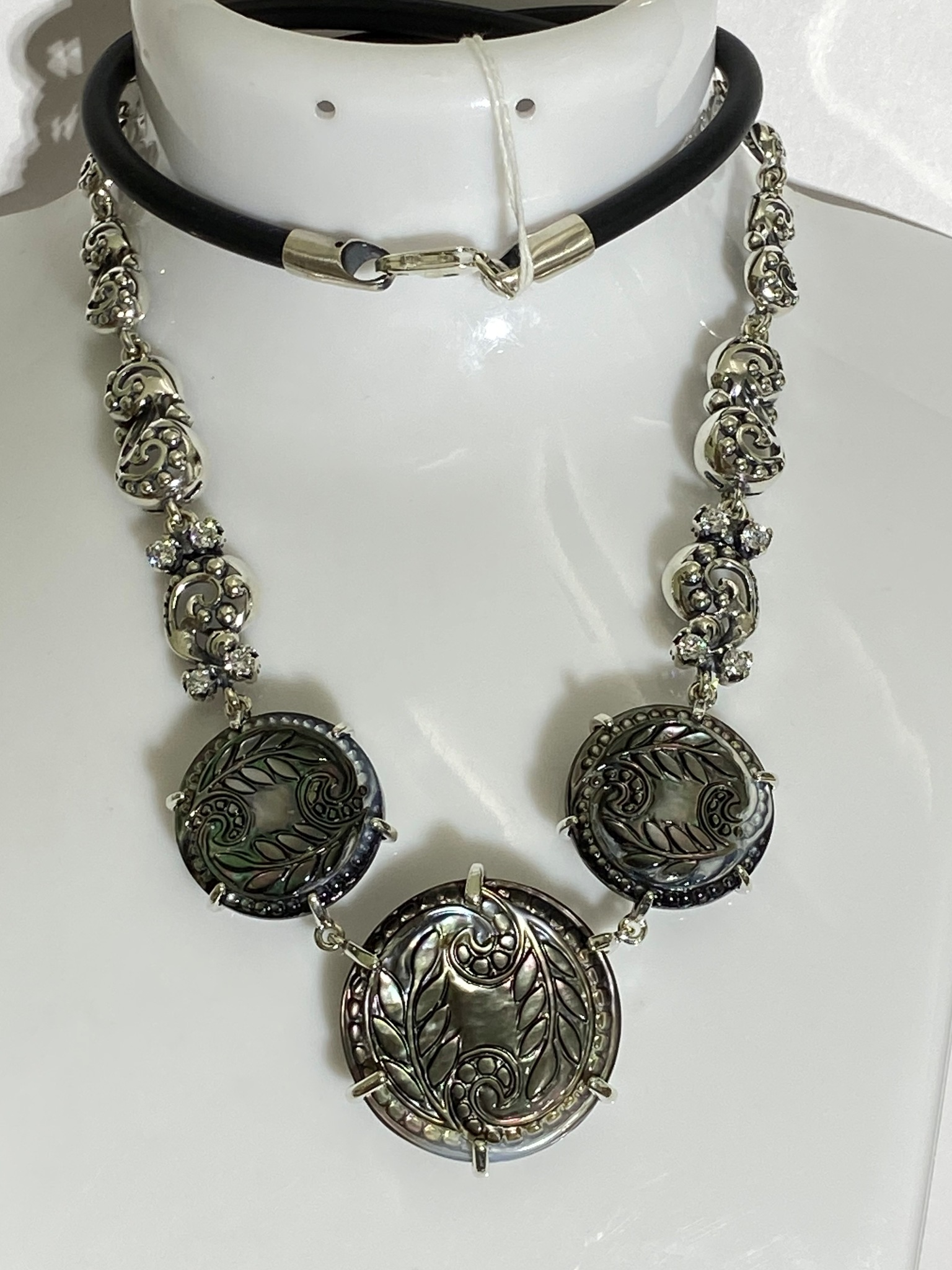 Айседора (серебряное колье )