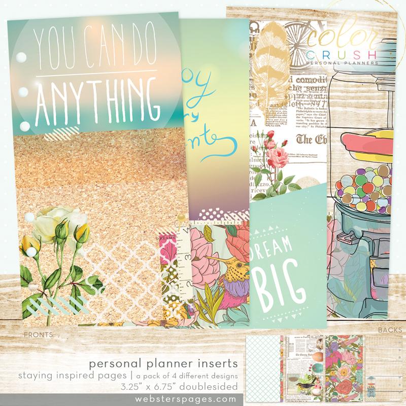 Дизайнерские  страницы для планнера PERSONAL PLANNER Websters Pages