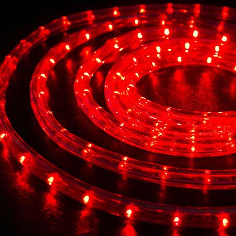 LED светодиодный шланг 10 метров готовый набор с вилкой красный цвет