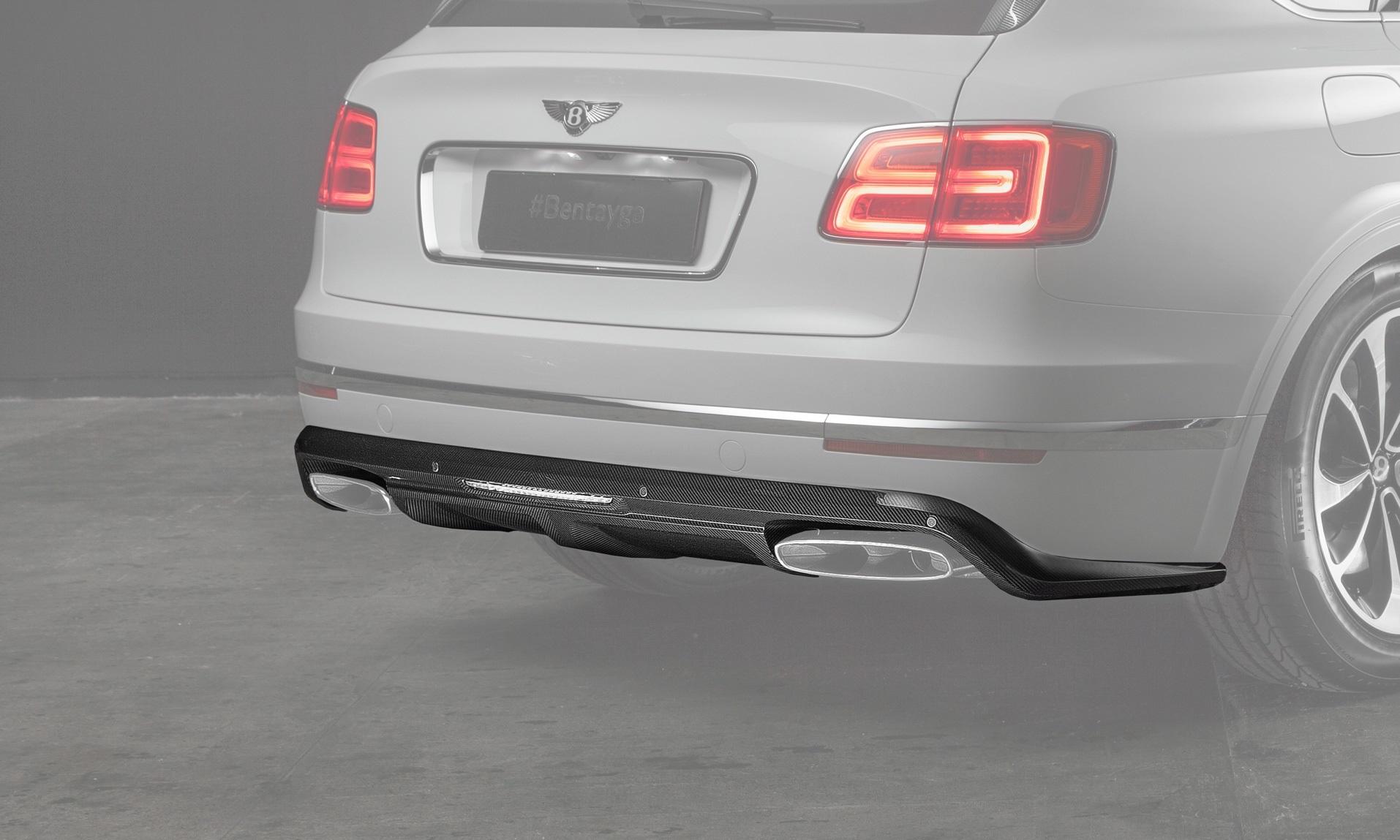 Карбоновый диффузор заднего бампера для Bentley Bentayga Копия