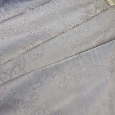 Премиум сатин-жаккард (100% мерсеризированный хлопок) стальной