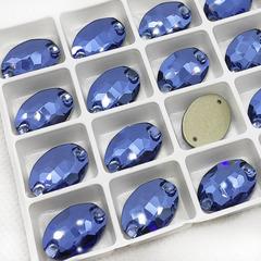 Купите стразы для новогоднего наряда 2021 Oval Denim Blue синие