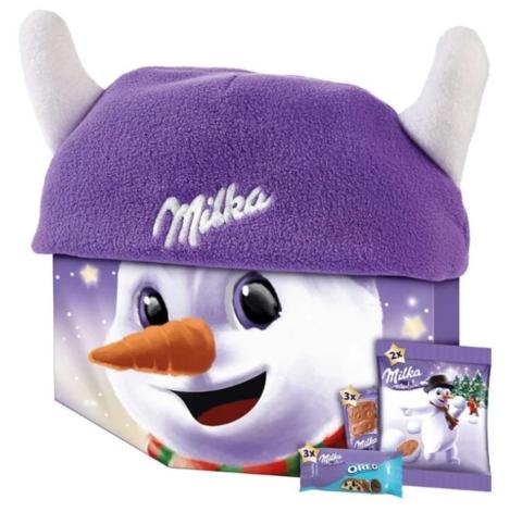 Новогодний набор Milka Winter Hat с шапкой 150 гр