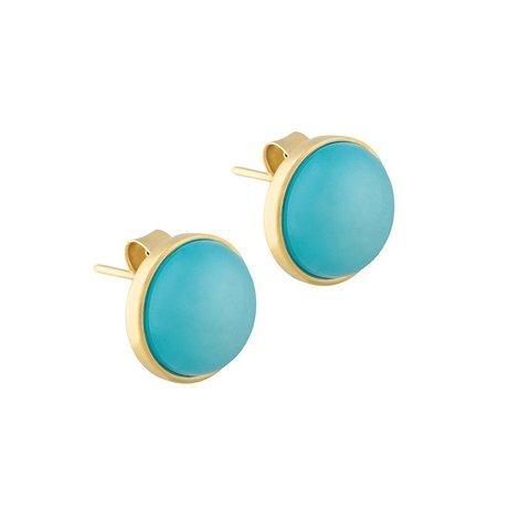 Пусеты Pearl Blue Sky Agate A1992.21 BL/G