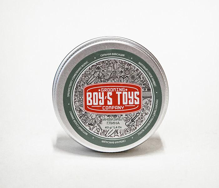 CARE179 Глина для укладки волос Boy's Toys «ИНВИЗИБЛ» (40 гр) фото 02