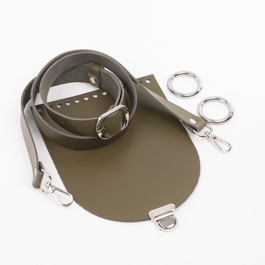 """Комплекты Комплект для сумочки Орео """"Хаки"""". Ручка через плечо и замок """"Маленький литой"""" IMG_1069.jpg"""
