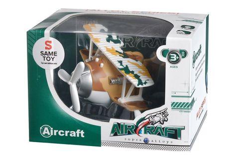 Самолет металический инерционный Same Toy Aircraft коричневый со светом и музыкой SY8015Ut-3