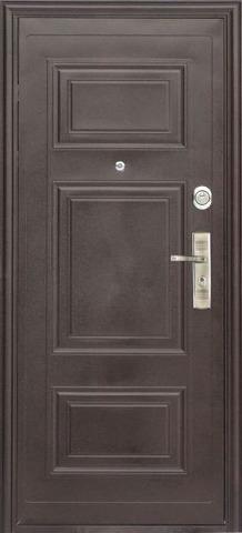 Дверь входная S-3 двустворчатая (1350*2050) стальная, медь, 2 замка, фабрика Арсенал