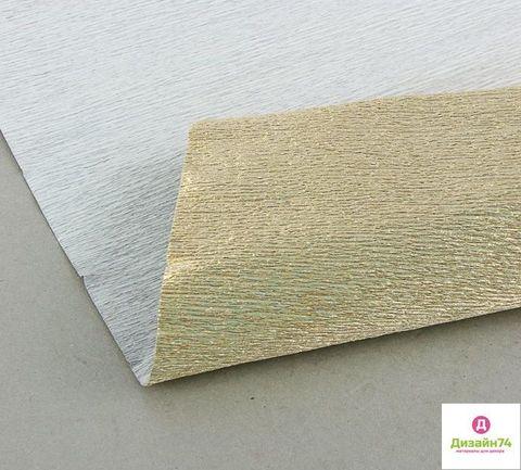 ГОФРИРОВАННАЯ БУМАГА ПР.ИТАЛИЯ 180 ГР №806  Светло-золотой, металл