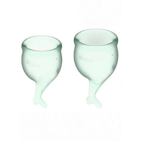 Satisfyer Feel secure Набор менструальных чаш Светло-зеленый