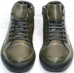 Round toe мужские ботинки в спортивном стиле Luciano Bellini BC2803 TL Khaki.