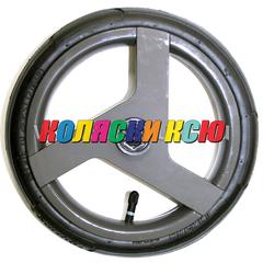Колесо для детской коляски №003100 надув 10 дюймов (48х188) без вилки низкопрофильное (втулка на ось 10мм) ADAMEX (Адамекс) СЕРЫЙ