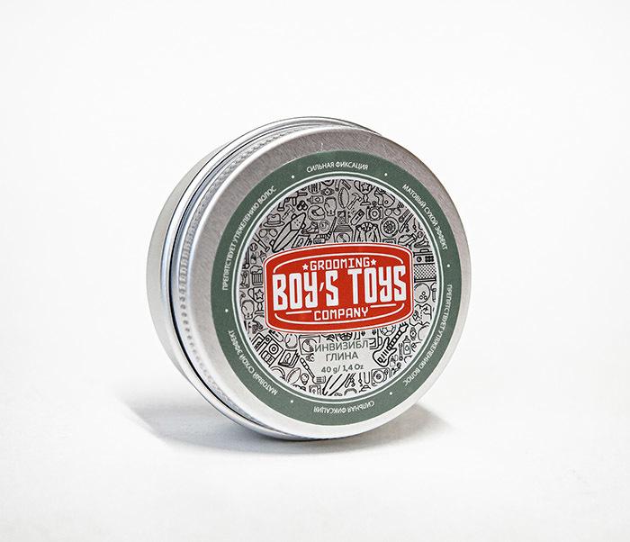 CARE179 Глина для укладки волос Boy's Toys «ИНВИЗИБЛ» (40 гр) фото 03