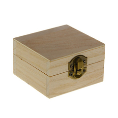 Шкатулка квадратная, 8,5 см × 8,5 см × 5 см, 1 шт.
