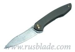 Cheburkov Russkiy 2018 Damascus folding knife Bronze