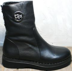 Ботинки полусапожки женские зимние G.U.E.R.O G019 8556 Black.