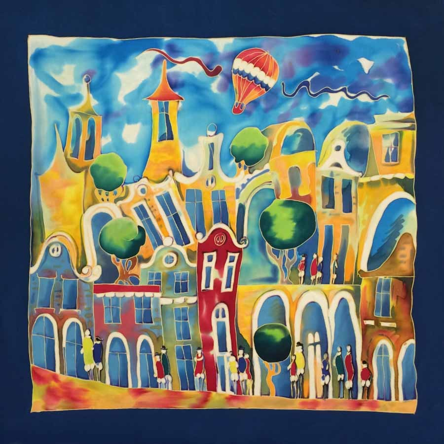 Платок батик Изумрудный город С-60