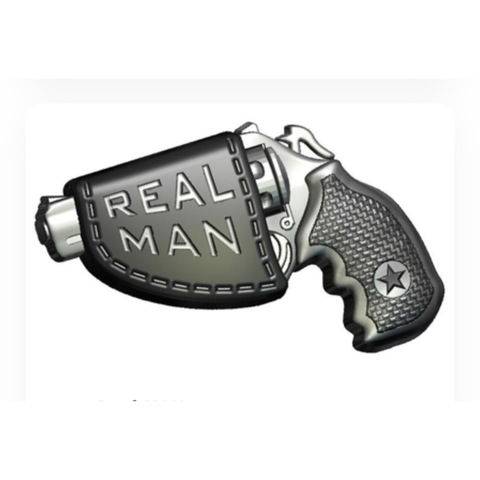 Пластиковая форма для шоколада муж. Пистолет REAL MAN 85х65мм.