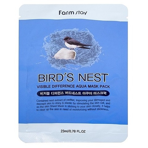 FarmStay Маска тканевая с экстрактом ласточкиного гнезда - Visible difference birds nest aqua, 23мл