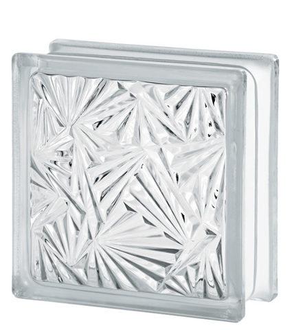 Стеклоблок бесцветный мороз Vitrablok 19х19х8 купить в Красеодаре