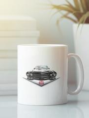 Кружка с рисунком Кадиллак (Cadillac) белая 0011