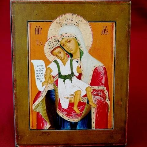 Икона Божией Матери Достойно есть (Милующая) на дереве на левкасе мастерская иконный дом