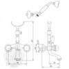 Смеситель для ванны Korona Swarovski ML.KRN-4703 схема
