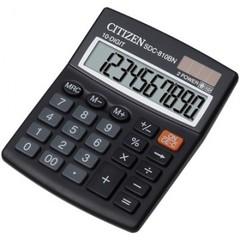 Калькулятор настольный КОМПАКТНЫЙ Citizen SDC-810NR 10-разрядный черный