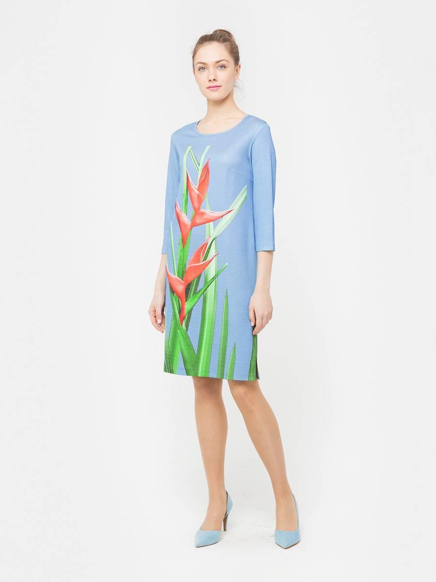 Платье З160-251 - Платье прямого силуэта из плотной, холодной вискозы с эксклюзивным авторским прином от S&S by S.Zotova. Проработанная, удобная модель которая отлично садится по фигуре любого типа. Для тех кто любит в центре внимания!