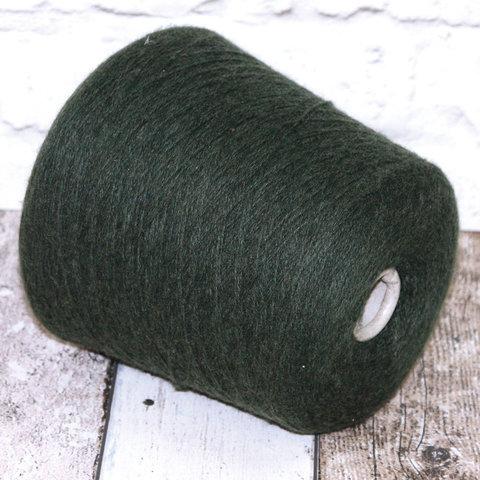 Вспушенный кашемир 2/12 CARIAGGI /FLECE GARZATO темно-зеленый хвойный
