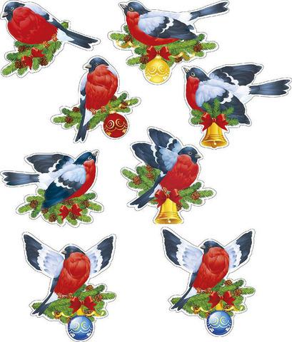 Печать на сахарной бумаге, Набор Птицы 5