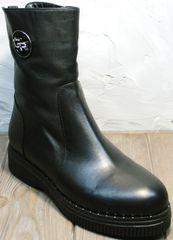 Полусапожки без каблука женские зимние G.U.E.R.O G019 8556 Black.