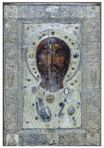 Икона Спасителя Иисуса христа Анчисхати на дереве на левкасе мастерская Иконный Дом