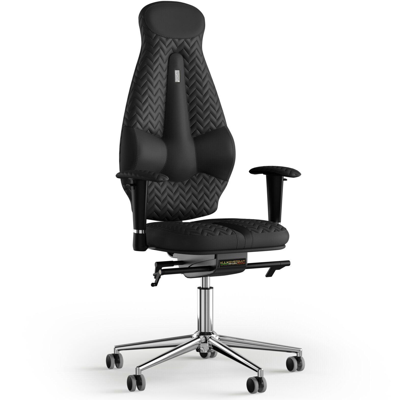 Кресло KULIK SYSTEM GALAXY Экокожа с подголовником со строчкой