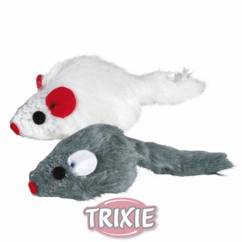 """Trixiе 4503 Набор игрушек д/кошек """"мышки разноцветные с кошачьей мятой"""", мех 5см*6шт"""