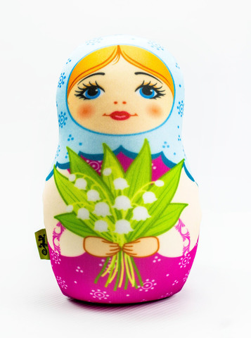 Подушка-игрушка антистресс Gekoko «Матрешка весенняя»