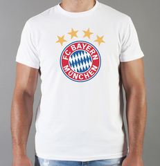 Футболка с принтом FC Bayern Munchen (ФК Бавария) белая 005