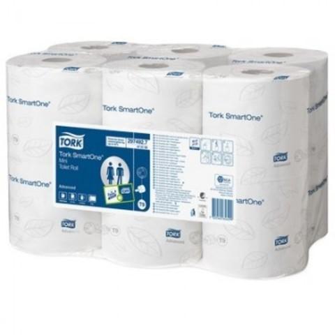 Бумага туалетная в рулонах Tork SmartOne mini T9 2-слойная 12 рулонов по 111.6 метров (артикул производителя 472193)