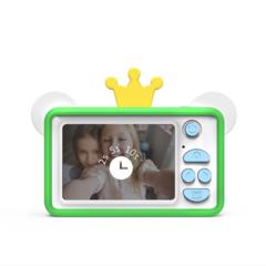 Фотоаппарат детский SmileZoom 24 Мп с чехлом с ушками / Лягушонок дисплей