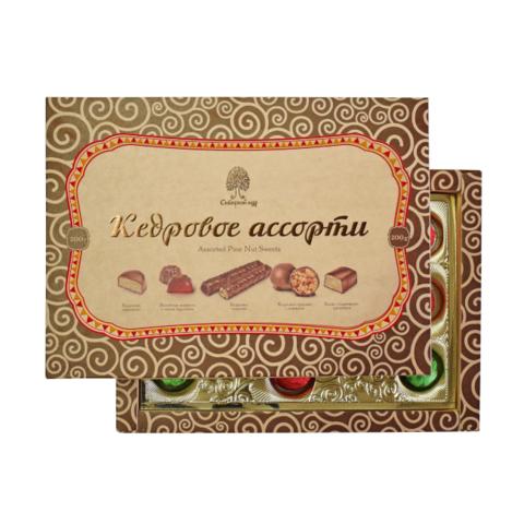 Конфеты Кедровое ассорти Сибирский кедр 200 г