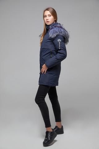 Куртка утепленная с меховым капюшоном купить