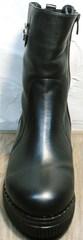 Модные полусапожки без каблука женские зимние G.U.E.R.O G019 8556 Black.