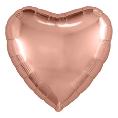 Аг 9''/23см, Мини-сердце, Розовое Золото, / 5 шт. /