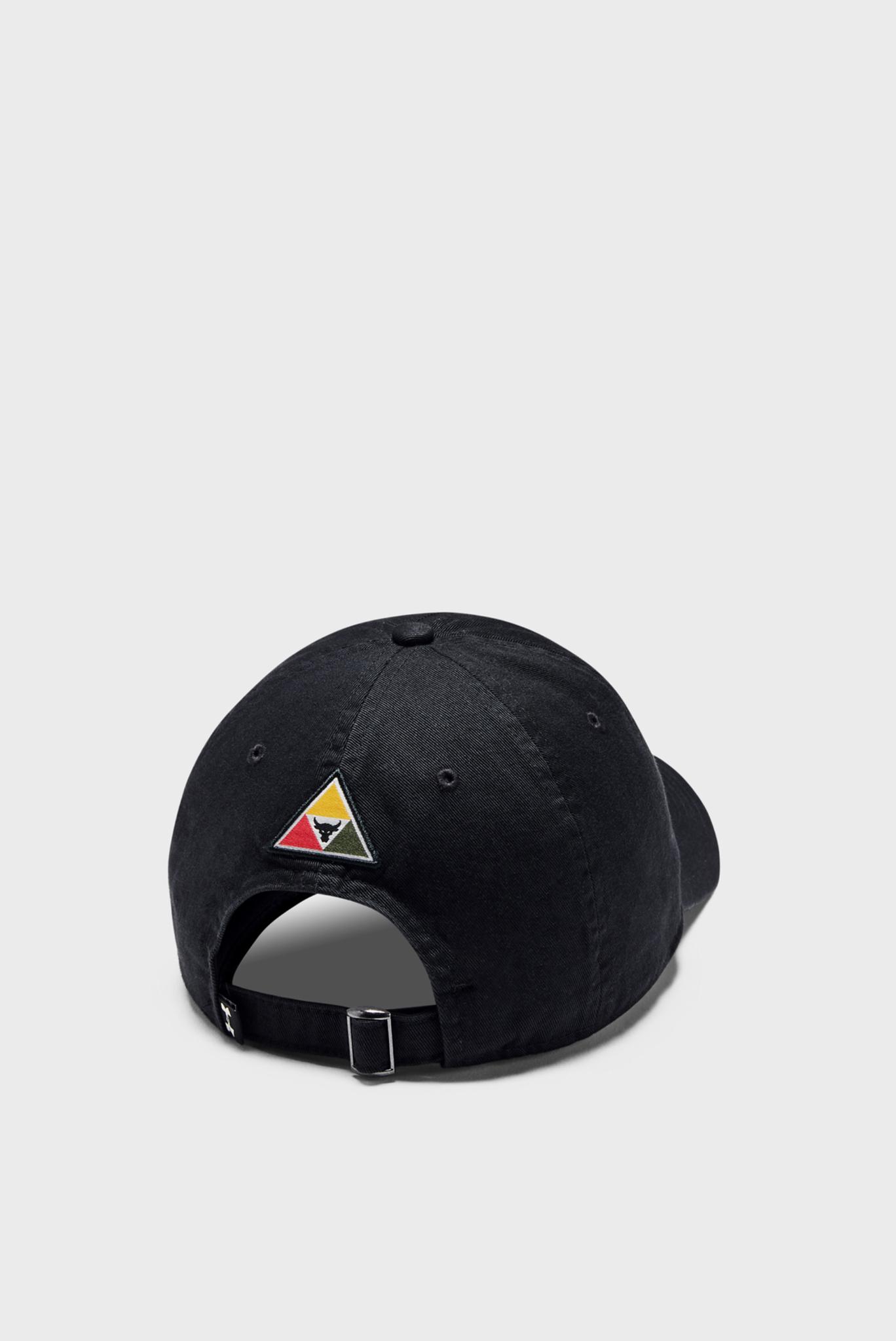 Черная кепка UA Project Rock Cotton Cap Under Armour