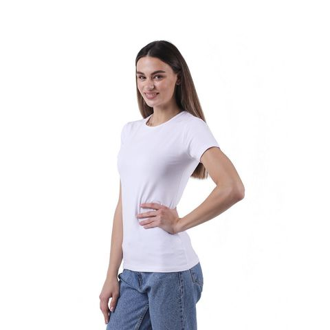 Женская футболка белая Sergio Dallini SDT651-1