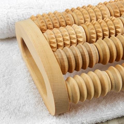 Массажер для спины и ног роликовый, 5 комбинированных рядов