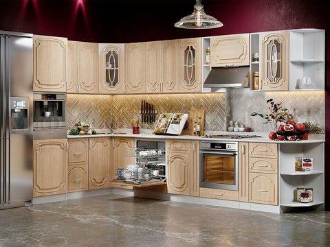 Кухня угловая Сказка береза 2м-3,6 м