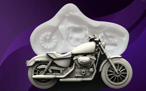 Силиконовый молд № 477 Мотоцикл большой
