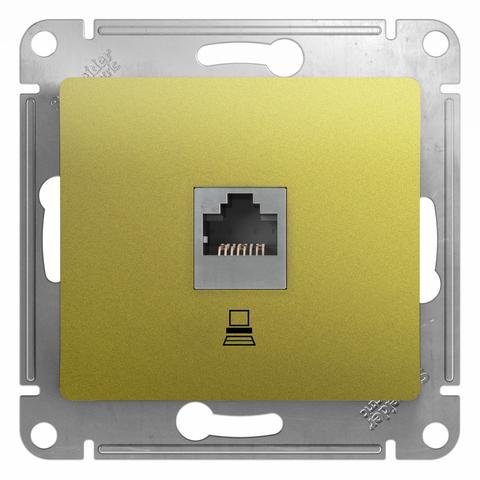 Розетка компьютерная RJ45, категория 5Е. Цвет Фисташковый. Schneider Electric Glossa. GSL001081K