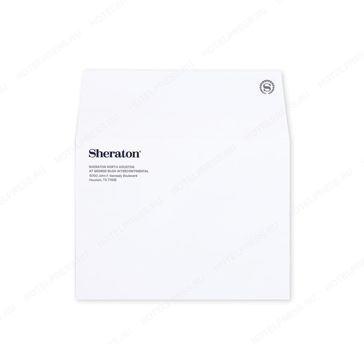Конверт из мелованной бумаги отеля Sheraton